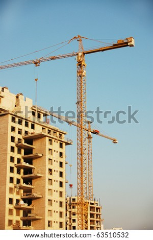 residential construction site - stock photo