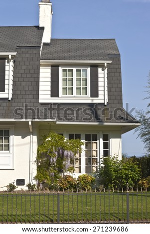 Residential homes on the west hills in Portland Oregon. - stock photo