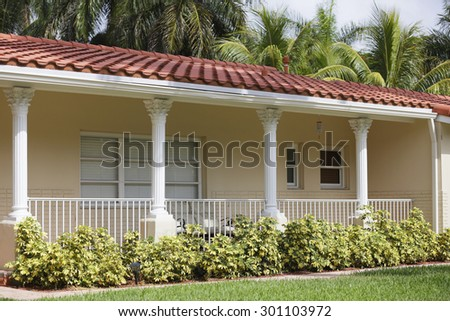 Residential house closeup photo - stock photo