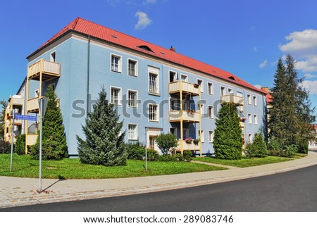 residential idyll - stock photo