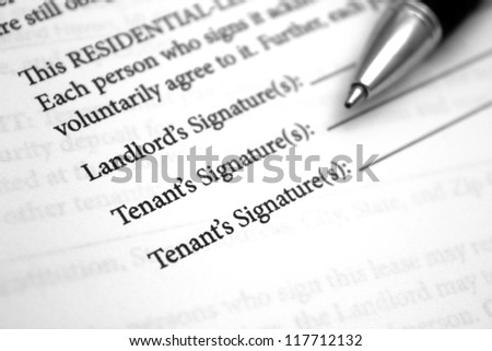 Residential Lease Agreement - stock photo