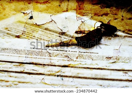 Residential loan application - stock photo