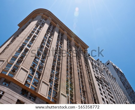 Residential or Commercial Buildings in Downtown Rio de Janeiro, Brazil - stock photo