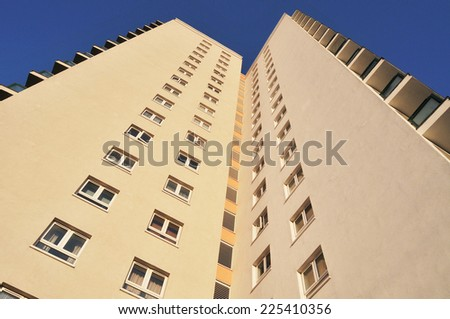 Residential Tower Block - stock photo