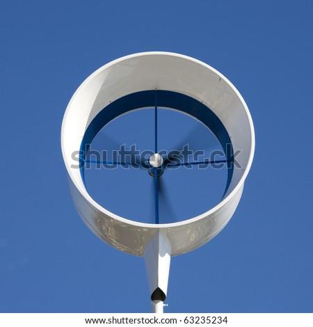 Residential wind turbine - stock photo