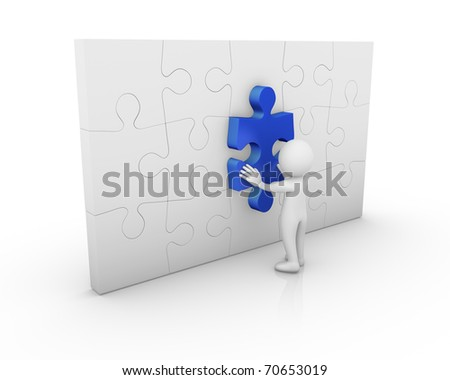 Resolving a problem - stock photo