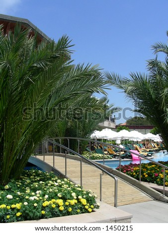 Resort in Turkey, Belek - stock photo