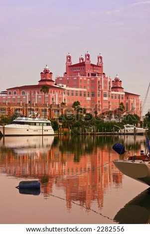 Resort on Florida's Gulf Coast - stock photo