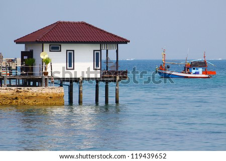 resort on sea in Koh Larn Pattaya - stock photo