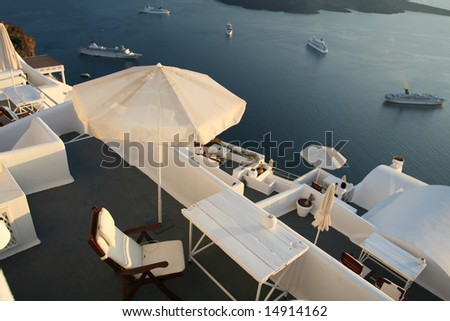 Resort Patio Vistas - stock photo