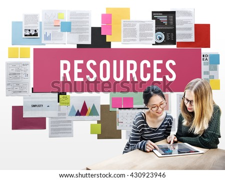 Resources Context Material Management Career Concept - stock photo