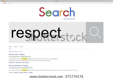 Respect Regard Loyalty Admire Accept Esteem Concept - stock photo