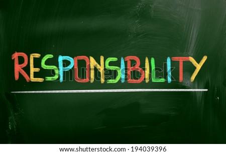 Responsibility Concept - stock photo