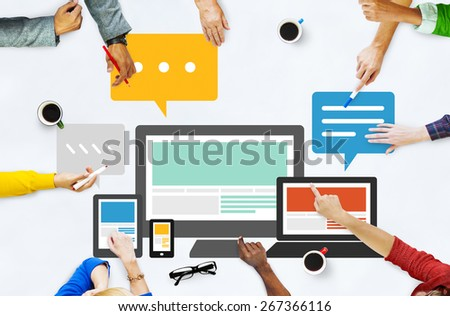 Responsive Design Internet Communication Technology Concept - stock photo
