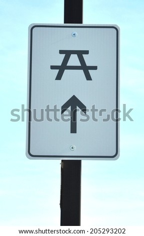 Rest area sign - stock photo