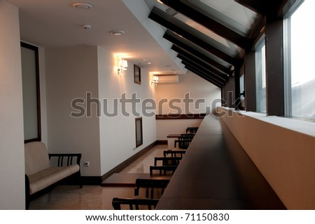 Rest room in office building interior - stock photo