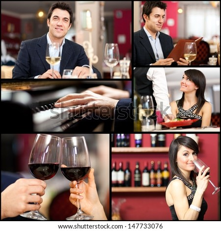 Restauramt collage - stock photo