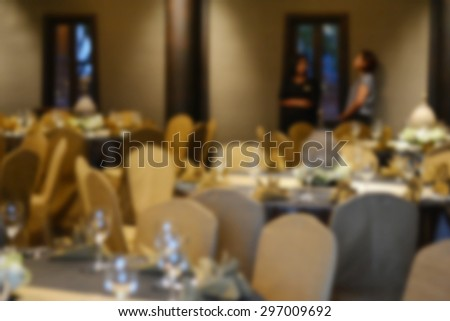 Restaurant abstract blur background