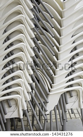 Restaurant Chairs stacked abroad and catering business