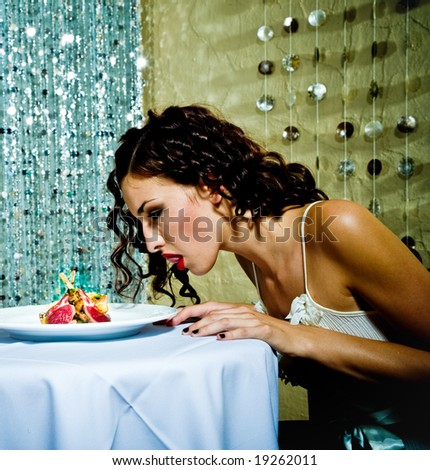 Restaurant / Food themed series. - stock photo