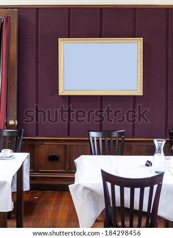 restaurant frame - stock photo