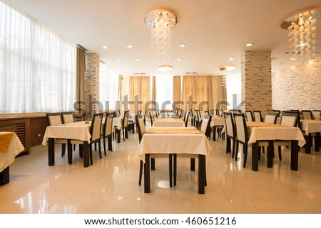 Restaurant in a luxury hotel