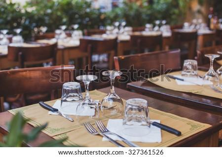 restaurant in Italy - stock photo