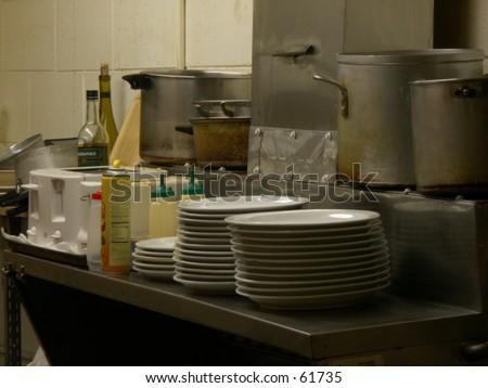 Restaurant Kitchen - stock photo