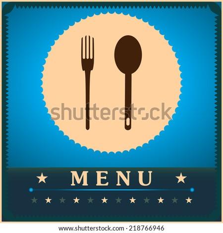 Restaurant Menu Card Design template. illustration - stock photo