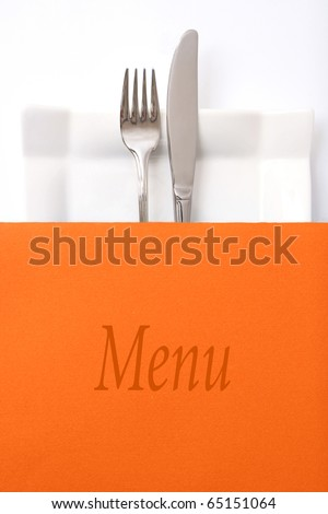Restaurant menu, place for text - stock photo