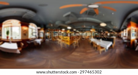 Restaurant  panorama abstract blur background with bokeh image