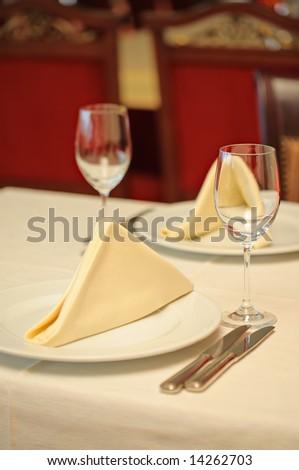 Restaurant setting - stock photo