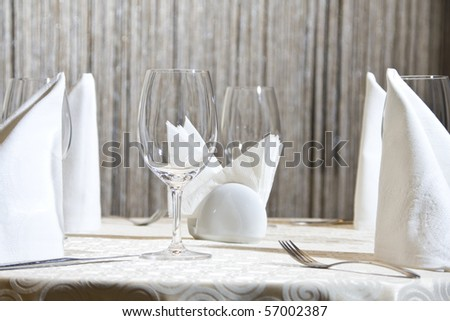 Restaurant table - stock photo