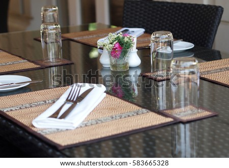 Restaurant Table Setting Asian Contemporary Style