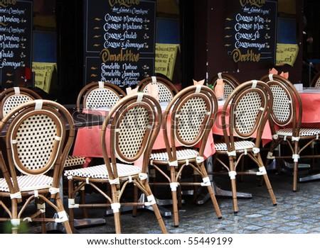 Restaurants in Paris - stock photo