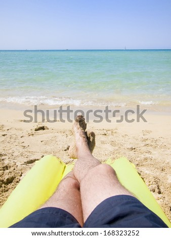 Resting at the beach