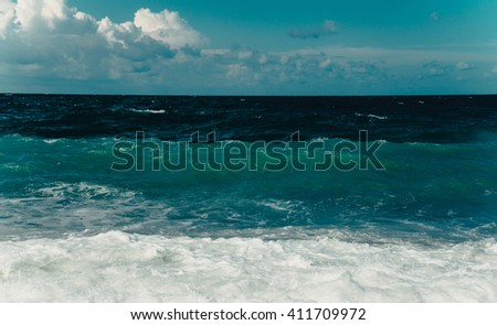 Restless Black Sea  - stock photo