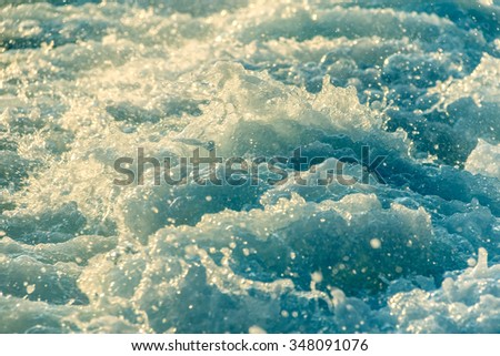 Restless water. Waves. Tur- bulent the sea - stock photo