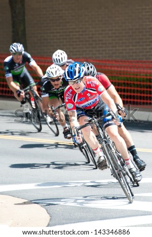 RESTON, VIRGINIA - JUNE 23: Cyclists compete in the Reston Town Center Grand Prix on June 23, 2013 in Reston, Virginia