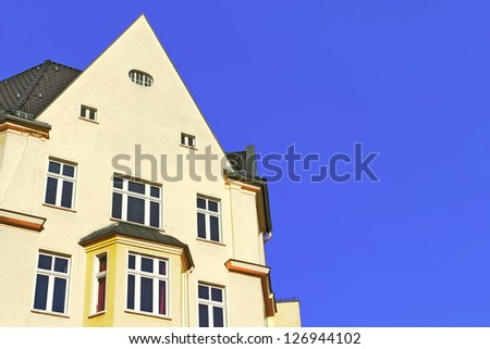 Restored house - stock photo
