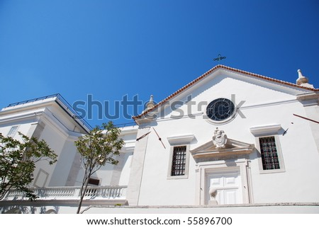 restored Inglesinhos Church in Lisbon, Portugal