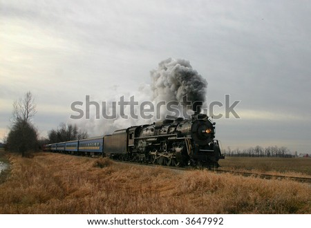 Restored steam locomotive that is run a few times a year.