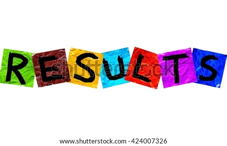 result - stock photo
