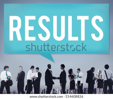 Results Effect Evaluation Efficiency Outcome Concept - stock photo