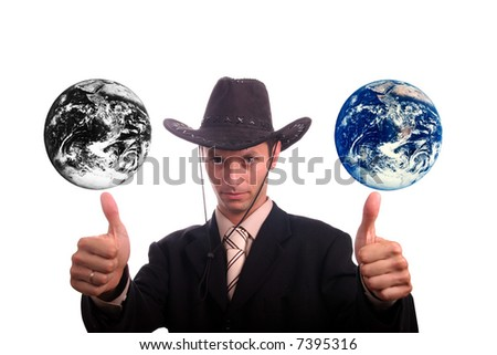 Results of polution on earth - stock photo
