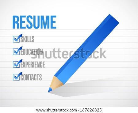Resume Check Mark List Illustration Design Stock Illustration ...