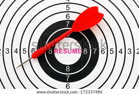 Resume target - stock photo