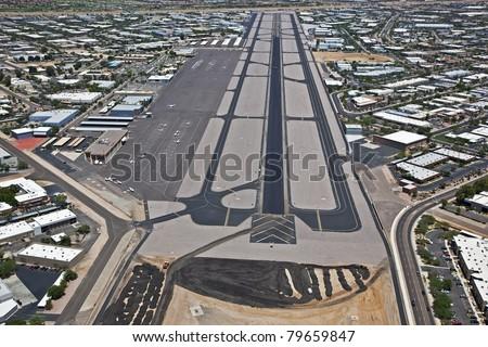 Resurfacing Scottsdale Airport - stock photo