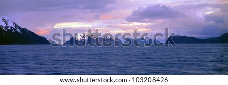 Resurrection Bay and Kenai Fjords National Park, Kenai Peninsula, Alaska - stock photo