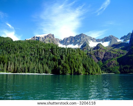 Resurrection Bay in Alaska - stock photo